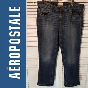 AEROPOSTALE Capri Cropped Ankle Jeans 30x22 9-10